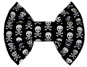 Halloween Skull bowties for dogs